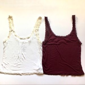 AEO soft and sexy lace tank tops X2 in size small